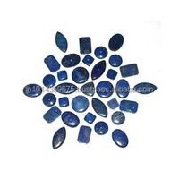 afhanistan Lapis Lazuli round cabochon jewelry component natural stones for jewelry making from China jewelry factory