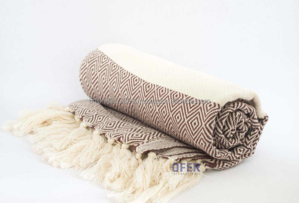 Colorful Cotton Throw Blanket Sofa Cover Decorative Use Heavy Throws Thick