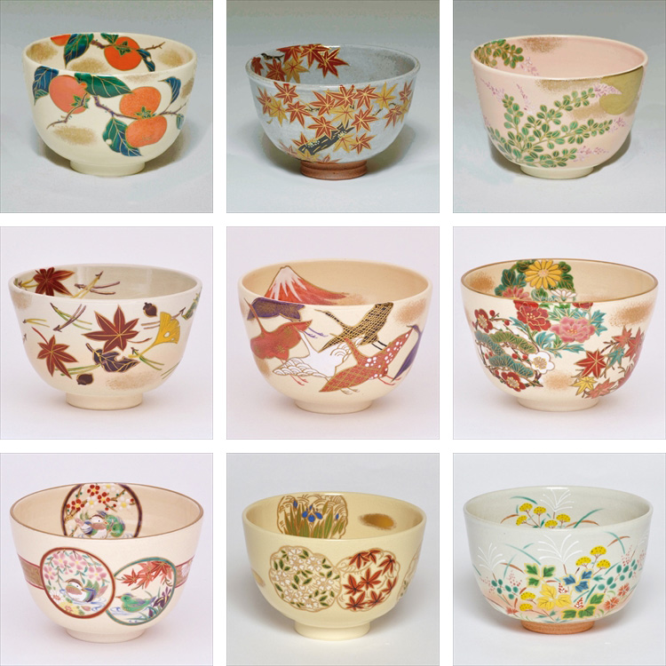 The Popular and Feel the season Autumn tea bowl gohon fukiyose