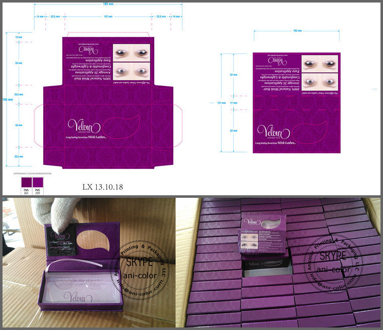 qingdao custom false eyelash packaging box with private