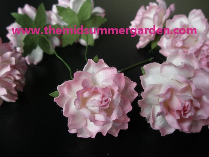 Thai Flower Making Handmade Mulberry Paper Rose Flower For