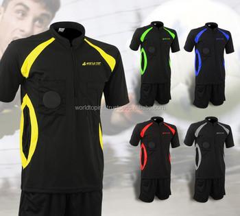 Árbitro De Futebol Sublimação Uniforme Clube De Futebol Árbitro  Set Personalizado Uniformes Árbitro  7b6b4fc854a35