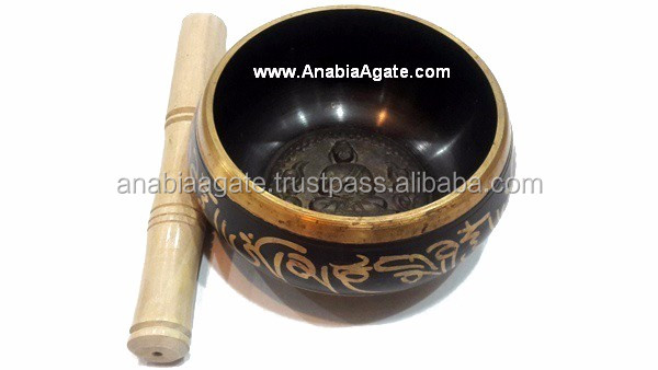 Tibetan Singing Bowls With Embossed Buddha 5.5 inch : From Anabia Agate Bolws