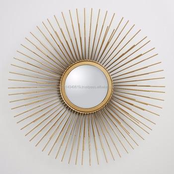 Forme de soleil miroir mural buy product on for Soleil decoratif mural
