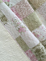 Beautiful indian styles Queen Size Patchwork Quilt with Floral Prints Custom patchwork qult