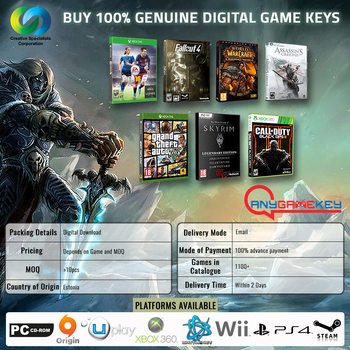 100% Genuine Steam,Uplay,Origin,Pc,Xbox,Ps4,Wii Game Cd Keys - Buy Digital  Key Games,Buy Digital Game Key Online,Game Key Codes Product on Alibaba com
