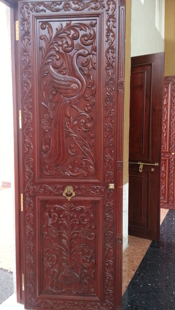 Indian main door designs of teak wood with antique carving for Door design india