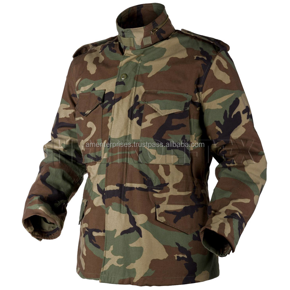 Newest Fashion OEM Woodland Men's military m65 jacket parka jacket