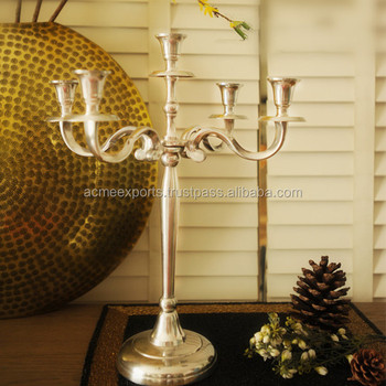 Table Decorative Aluminium Wedding Candelabra CenterPiece