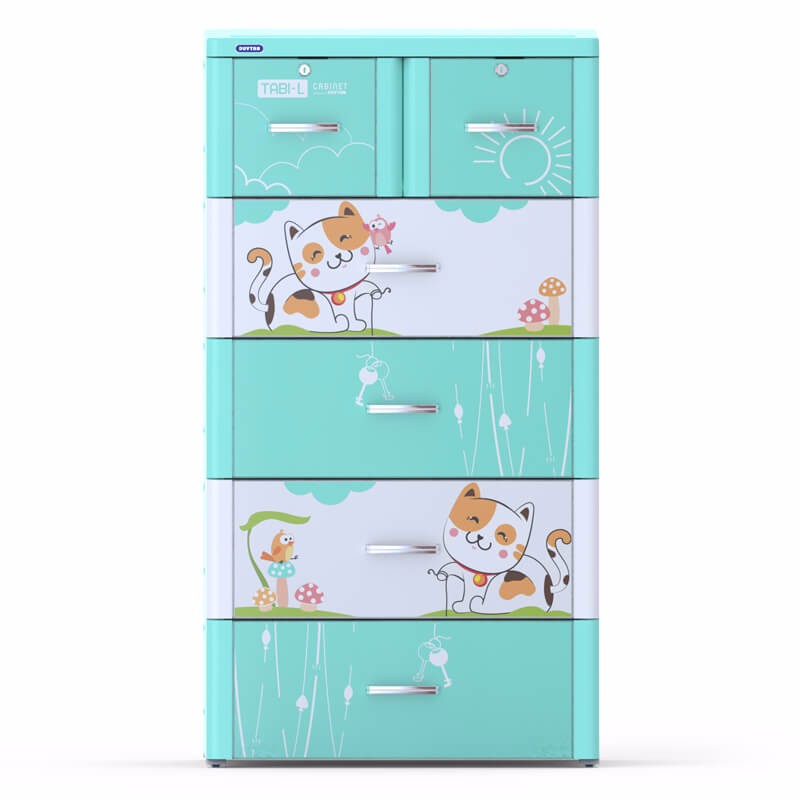 High quality plastic drawer/ plastic cabinet/ TABI-L CABINET - 5 DRAWERS - Duy Tan Vietnam
