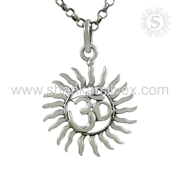Marvelous om plain silver religious pendant wholesaler 925 sterling marvelous om plain silver religious pendant wholesaler 925 sterling silver pendant indian silver jewelry aloadofball Image collections