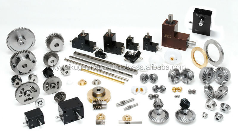 Straight miter gear with locking mechanism Module 1.0 Stainless steel Ratio 1 Made in Japan KG STOCK GEARS
