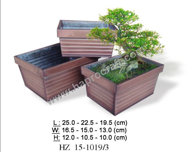 Zinc pots garden decor/ cheap flower pots & planters
