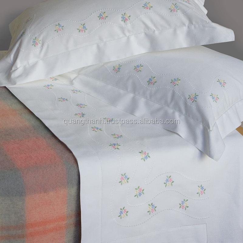 Hand Embroidery Bedding Set Bed Sheet Bed Linen Baby