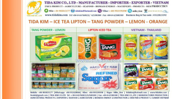 TANG POWDER JUICE - ORANGE OREO- GODEN CAN 240ML MR BROWN CAPPUCCINO ORIGIN -REFINED SUGAR ICE TEA LIPTONTIDA KIM- THAILAN