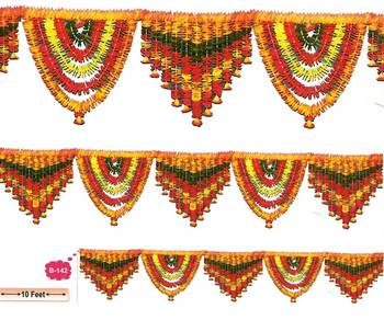Artificial flower garland for decoration by rh buy for Artificial flowers for home decoration india