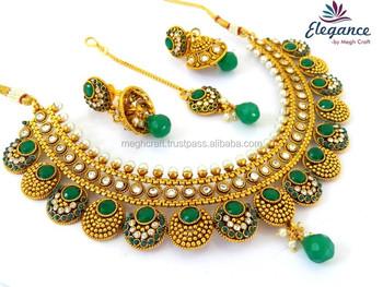 Wedding Bridal Designer Necklace Set Maroon Cz Rani Haar Style
