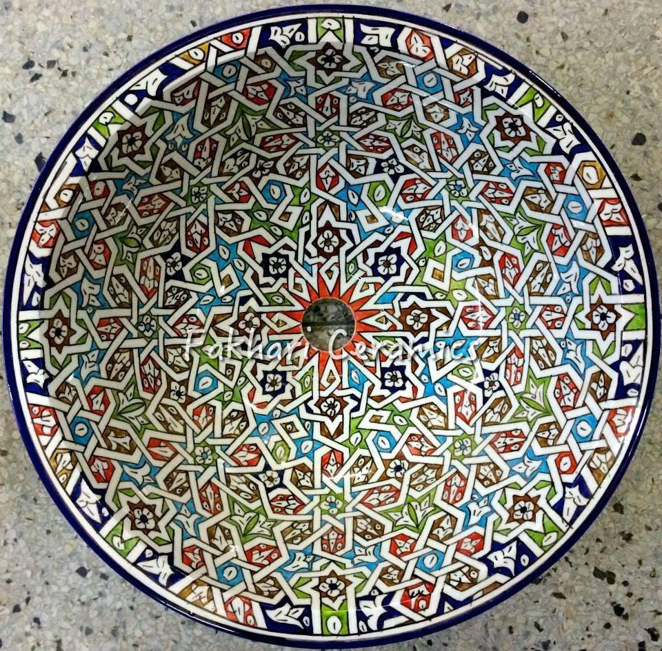 Encaustic Ceramic Moroccan Hand Painted Sink   Buy Bathroom Sinks,Handmade  Moroccan Sink Product On Alibaba.com