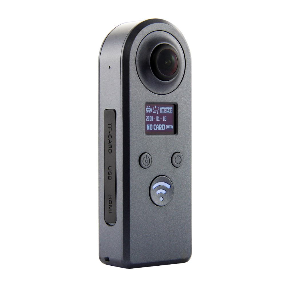 VR Potable 360 Video Camera HD Panoramic VR Camera 360 Camera Dual Wide Angle Fisheye Lens action