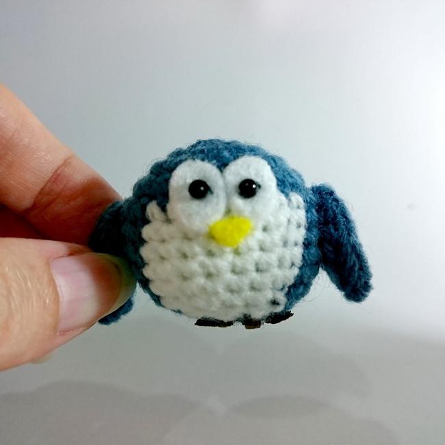 Tiny Kreis Chubby Häkeln Eule Pinguinamigurumi Häkeln Tiere Baby