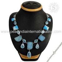 All Festivals Of India Natural Gemstone Silver Necklace 925 Sterling Silver Jewelry Wholesaler Exporters