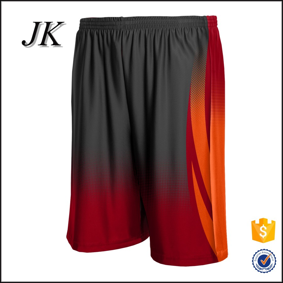 Sublimation 95%polyester and 5% spandex quick dry basketball shorts