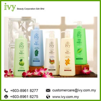 Ivy Naturale 24 Moisturizer Dye Hair Shampoo Organic Argan Oil Hair Growth product OEM made in Malaysia