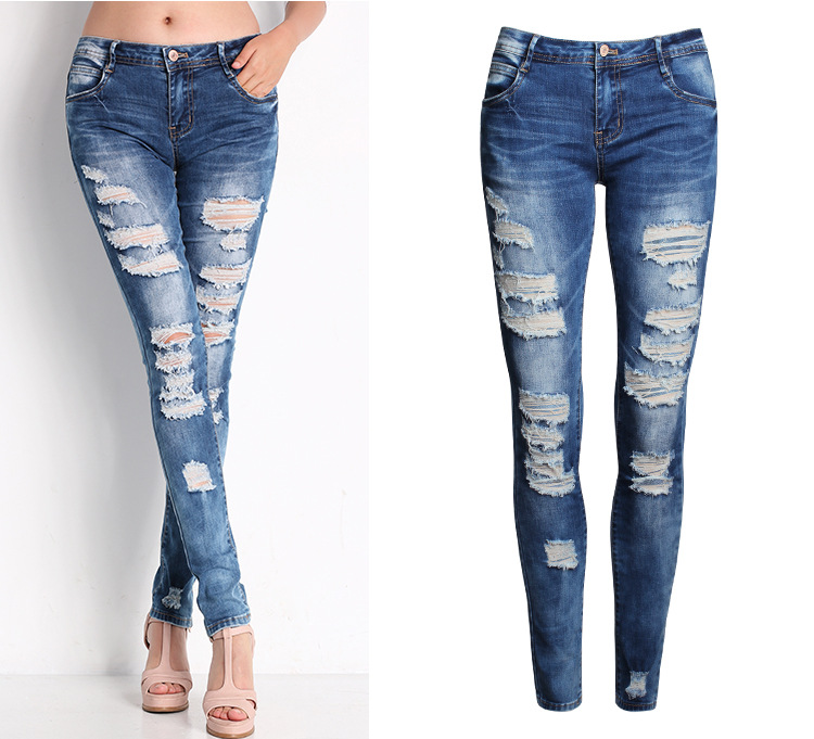 Women Denim Ripped Pants, Women Denim Ripped Pants Suppliers and ...