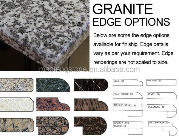 Ogee Edges Finish G682 Golden Yellow Granite Sandstone Kitchen Countertops