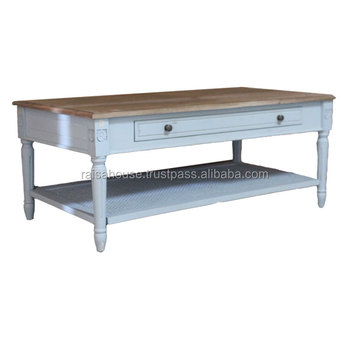 French Shabby Chic Furniture - Coffee Table with Drawer Shabby furniture
