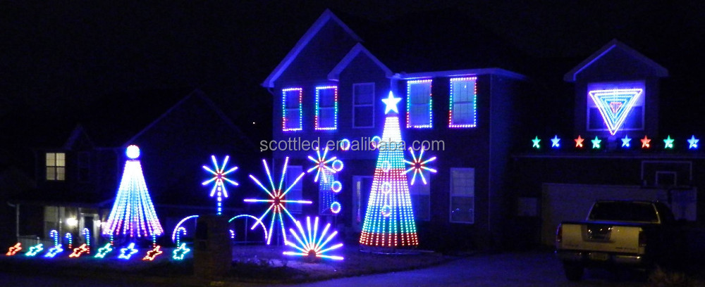 smart rgb color changing c9 led pixel bulb light string christmas tree led lights