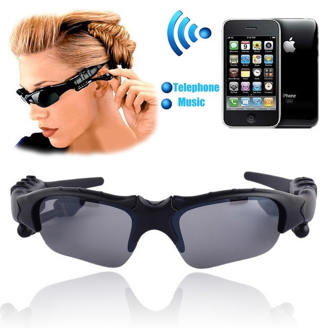 Fashion polarized bluetooth headset MP3 music spot sunglasses wholesale wireless earphone