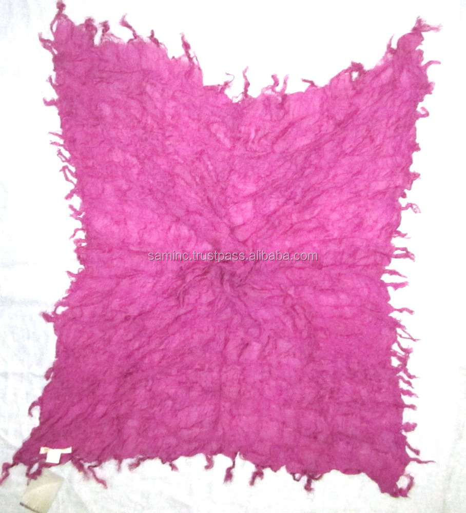 Viscose Lycra Plain Square Scarves With Fringes