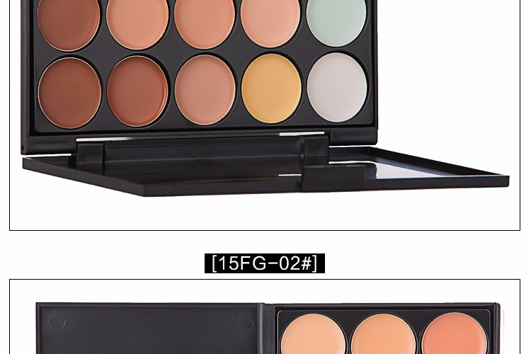 LX2694-1 Cosmetic Contouring Makeup Foundation Cream 15 Colors Mineral Concealer Palette