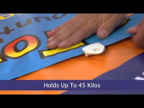 Hang a Banner using Clips, Quick Banner Hanging & Replace Banner Eyelets