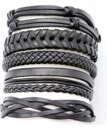 hand made leather bracelets from UK supplier