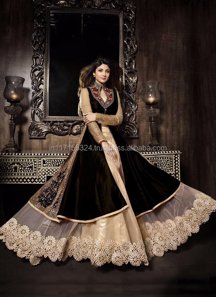 9070e7b4c Ethnic Wedding Anarkali Suit Bollywood Actress Shilpa Shetty Anarkali Salwar  Kameez - Buy Ethnic Wedding Anarkali Suit Bollywood Actress Shilpa Shetty  ...