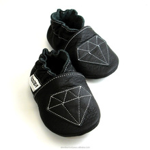 soft sole baby shoes Leather chaussons Krabbelschuhe Diamond Black 2 3 years ebooba