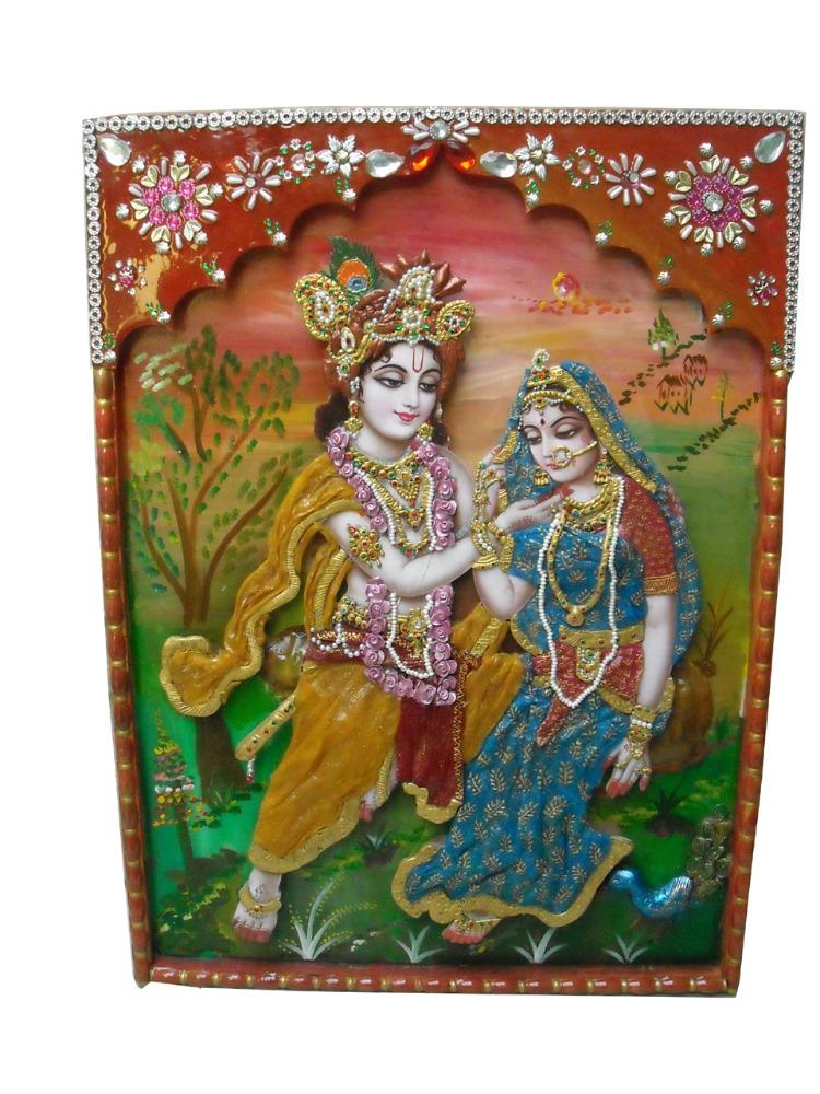 Radha Krishna Wall Painting Buy Modern Krishna Paintings Product On Alibaba Com