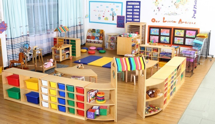 High Quality Free Daycare Furniture Heavy Duty Movable Book Cabinet Multifuncation Bookshelf For