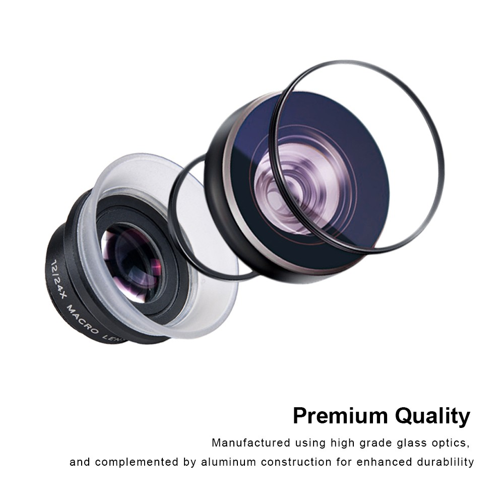 Apexel new arrival apl-24xm macro lens mobile photography hood macro lens for iphone Android