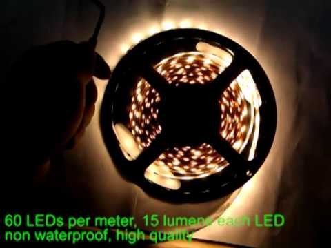 ultra bright Epistar warm white 5050 LED strip.mp4