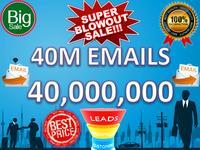 40 Million Emails Lists unverified