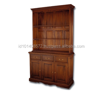 Mahogany Living Room Cabinets Divider With 3 Doors Furniture Made In  Indonesia Products