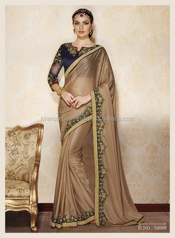 Indian Ethnic Designer Party Wear Saree With Blouse