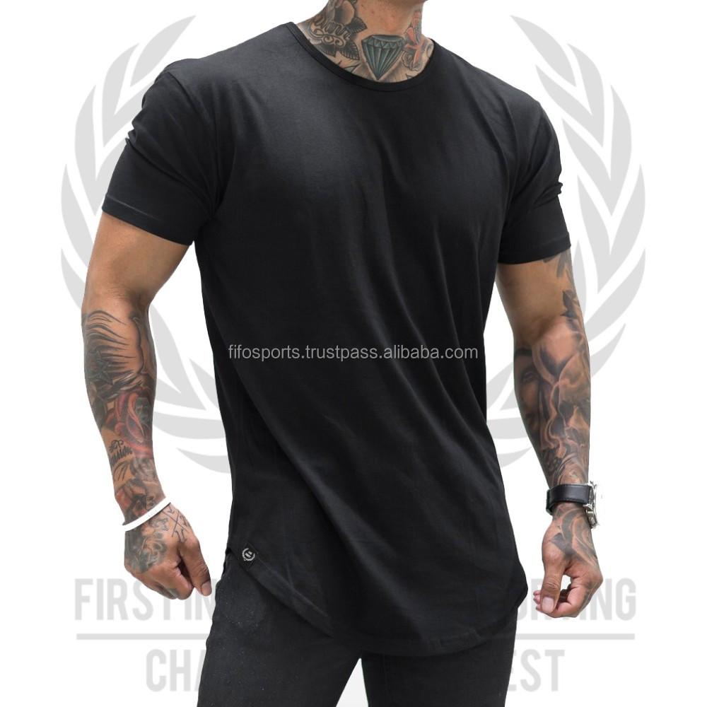 Plain black t shirt quality - New Design Wholesale Plain Round Neck Women Scoop Bottom T Shirt