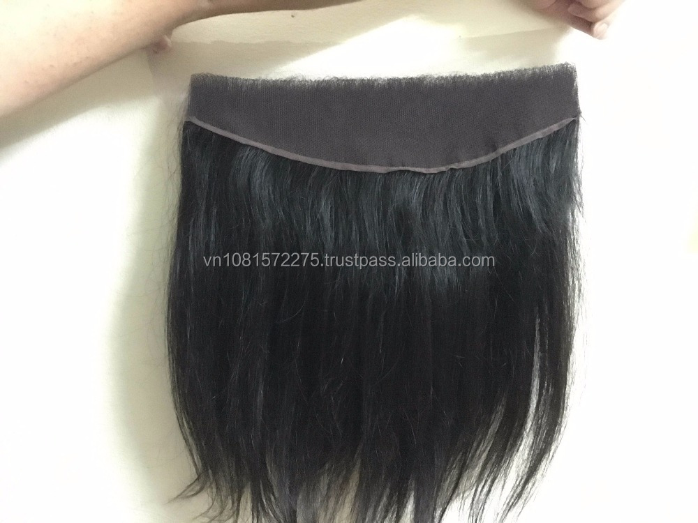 "Baby Hair silk and softest 100% unprocessed cheap lace closure 13*4"" Vietnamese human hair wig in stock"