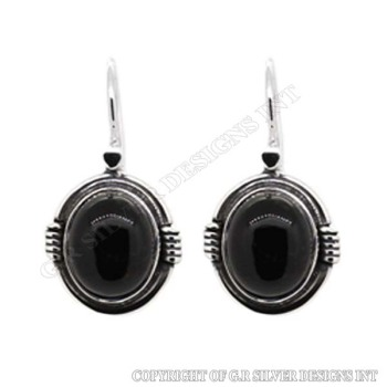 Black Onyx Earrings Gemstone Online Sterling Silver 925