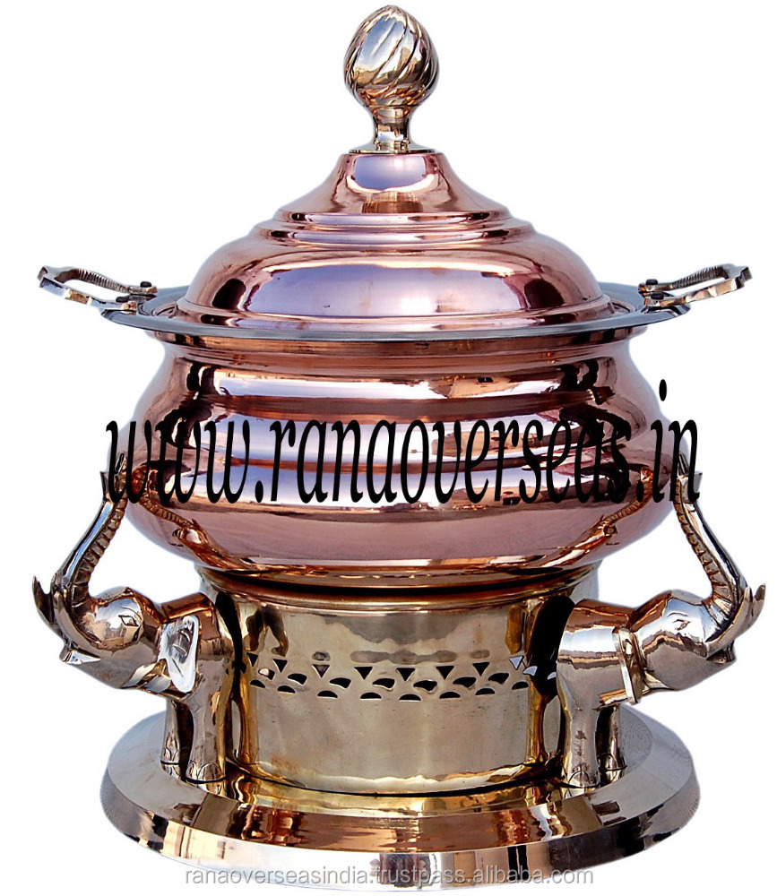 Elephant Trunk Up Copper Brass Chafing dish
