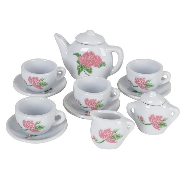 13 PC CERAMIC TEA SET